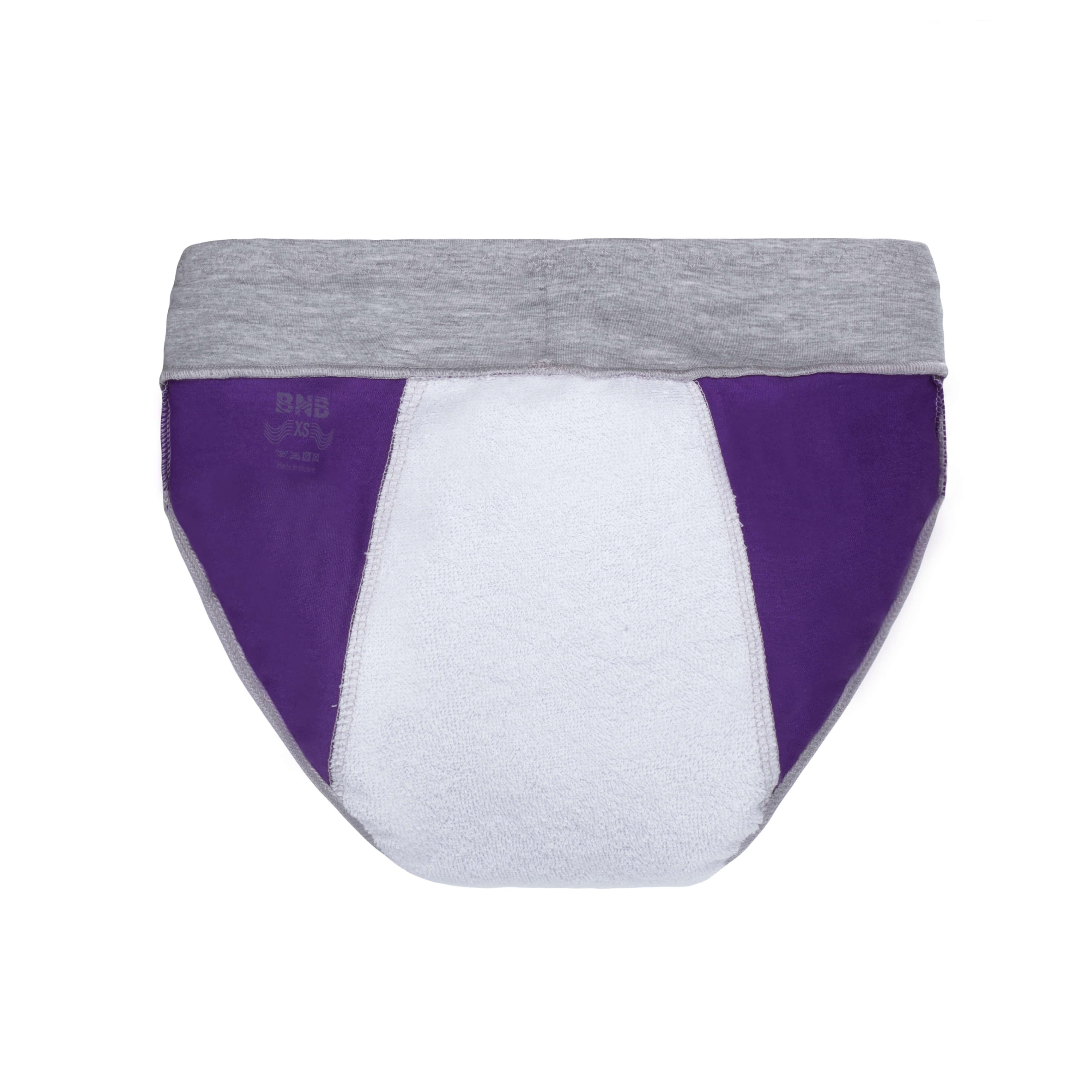 Спорт трусики фіолетові з вбираючим шаром від протікань - Фото 4