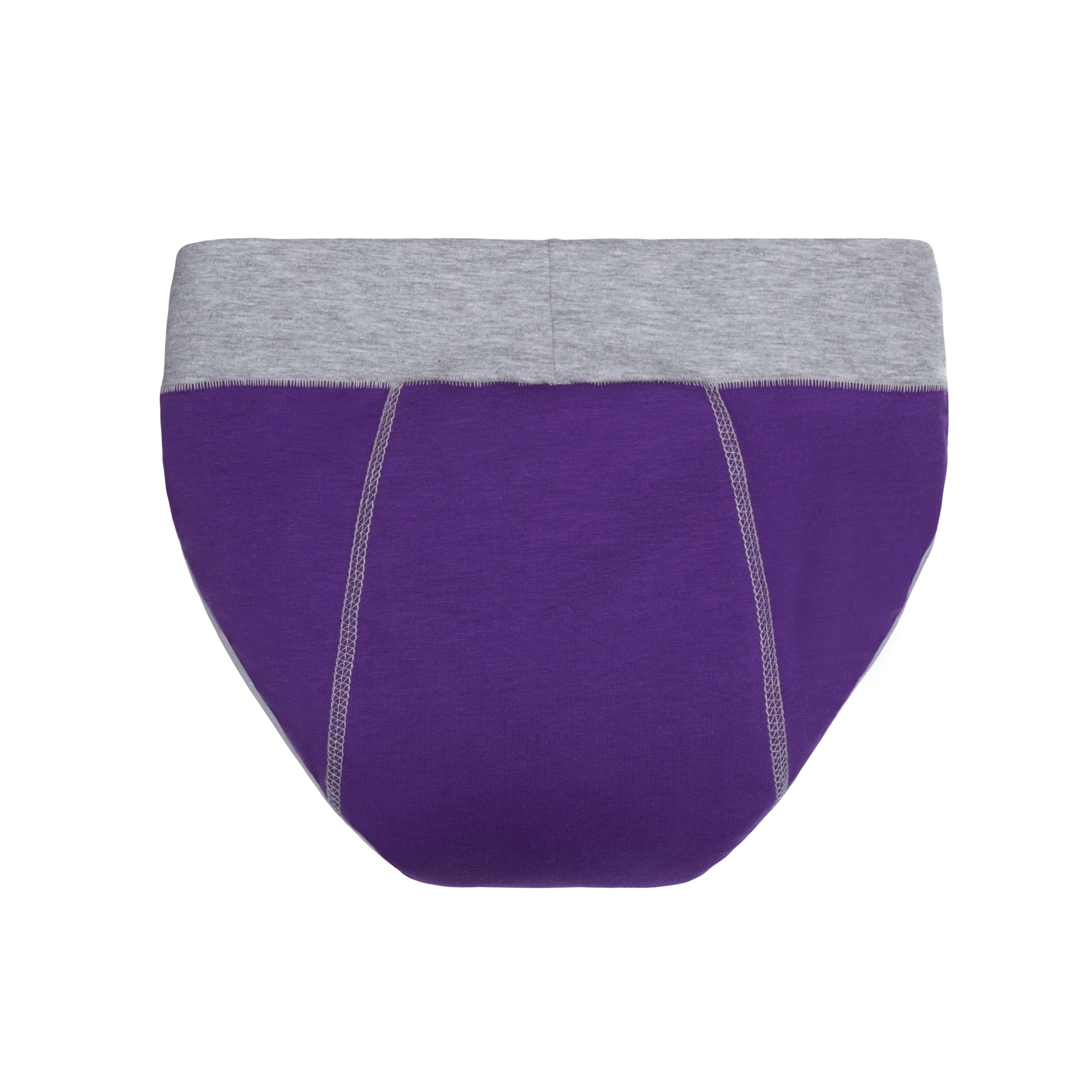 Спорт трусики фіолетові з вбираючим шаром від протікань - Фото 3