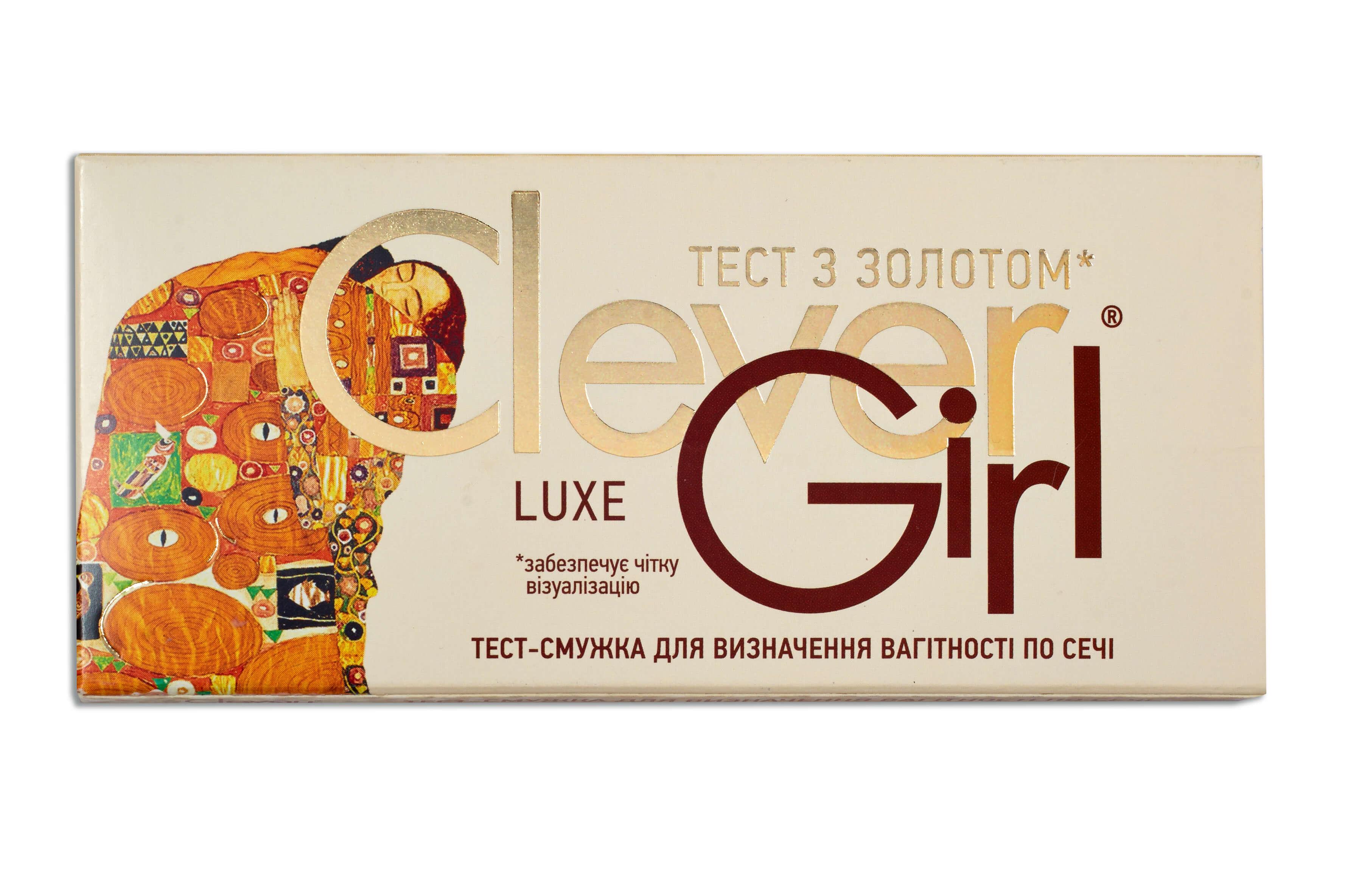Тест для визначення вагітності Clever Girl Luxe з золотом - Фото 1